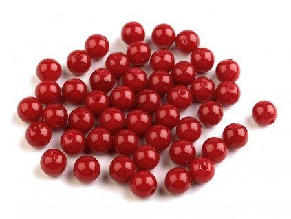 Plastové voskové koráliky Ø8mm/10g červené