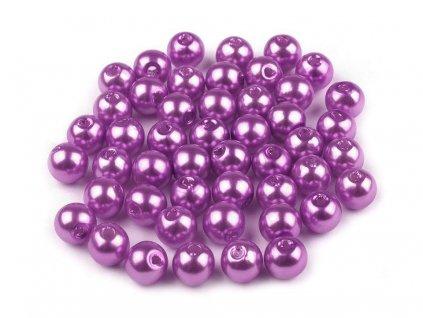 Plastové voskové koráliky Ø6mm/10g fialové