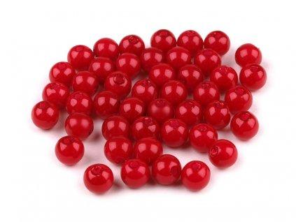 Plastové voskové koráliky Ø6mm/10g červené