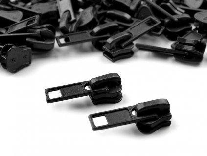 Bežec ku kosteným zipsom 5mm čierny 322