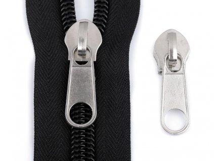 Bežec na špirálové zipsy 10mm nikel