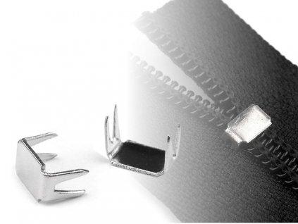 Koncovka na zips 3mm dolná nikel