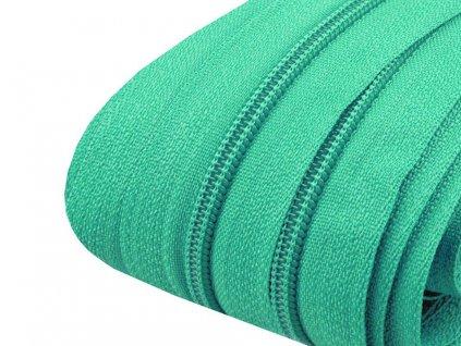 Zips špirálový 3mm metráž azurovo zelený 254