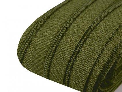 Zips špirálový 3mm metráž avokádový zelený 263