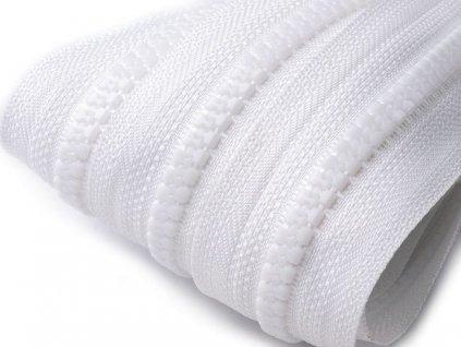 Zips kosticový 5mm metráž biely 101
