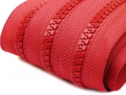 Zips kosticový 5mm metráž červený 148