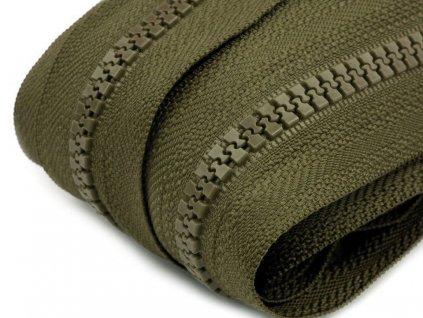 Zips kosticový 5mm metráž avokádový zelený 298
