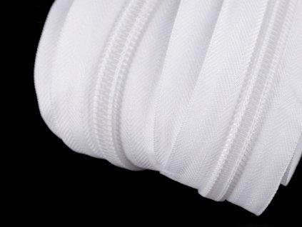 Zips špirálový 10mm metráž biely