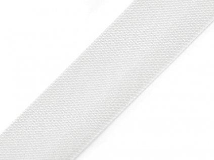 Šikmý prúžok saténový 20mm biely