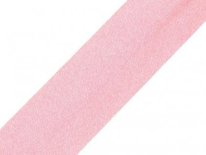Šikmý prúžok saténový 15mm ružový