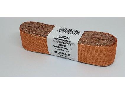 Adjustačná stuha torsade 25mm/10m oranžová - zlatá 666