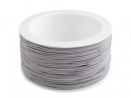 Klobúková guma guľatá Ø1,2mm sivá