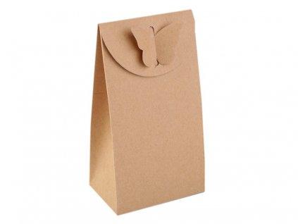Papierová krabička natural s motýľom 8,4x15x5,5cm