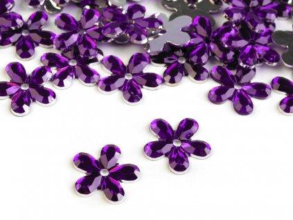 Plastová kvetinka 11mm/20ks fialová