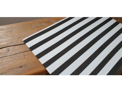 Machová guma biela s čiernymi pásmi