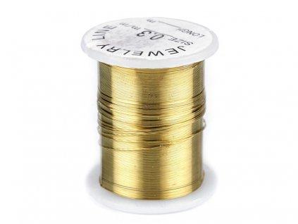 Dekoračný drôtik Ø0,3mm zlatý