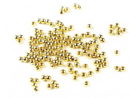 Plastové voskové koráliky Ø3mm/10g zlaté
