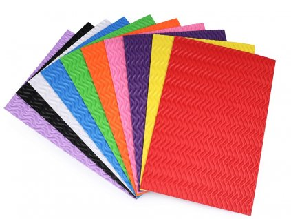 Machová guma vlnky mix farieb 10 kusov