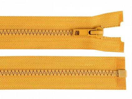 Zips kostený bundový 5mm/60cm horčicový