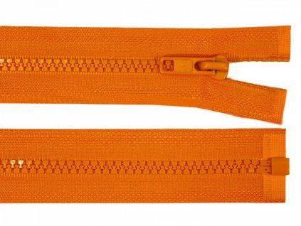 Zips kostený bundový 5mm/60cm oranžový