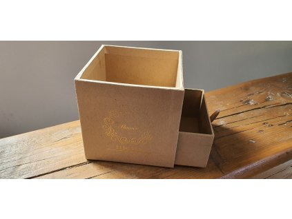Flower box kocka 10x10cm natural