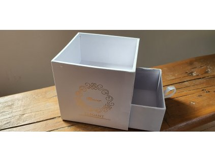 Flower box kocka 10x10cm biela
