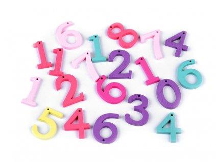 Drevené čísla 20 kusov