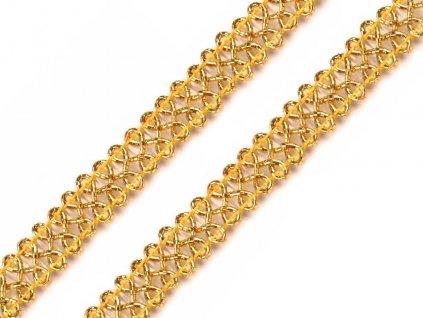 Leonský prámik 12mm zlatý
