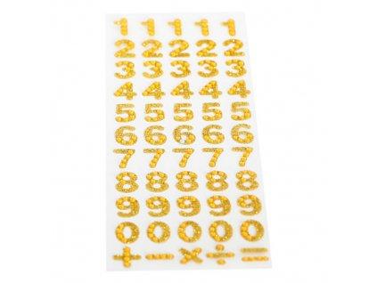 dzety samoprzylepne cyfry zlote 1 9 1kpl