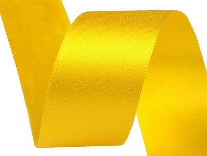 Obojstranná saténová stuha 40mm 211 žltá