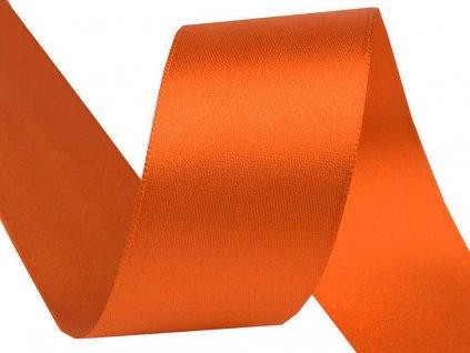 Obojstranná saténová stuha 40mm 248 oranžová