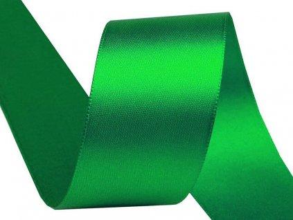 Obojstranná saténová stuha 40mm 310 smaragdová