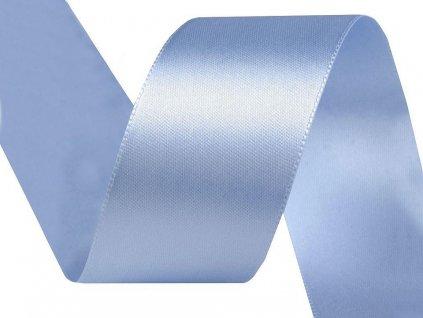 Obojstranná saténová stuha 40mm 442 modrá