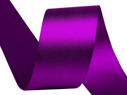Obojstranná saténová stuha 40mm 519 purpurová