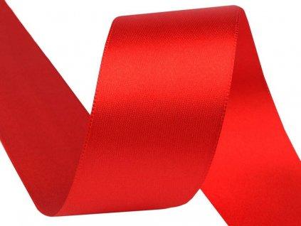 Obojstranná saténová stuha 40mm 620 červená