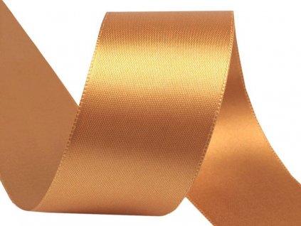 Obojstranná saténová stuha 40mm 742 zlatá
