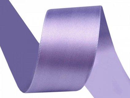 Obojstranná saténová stuha 40mm 542 fialová