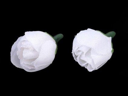 Umelá ružička Ø20mm biela
