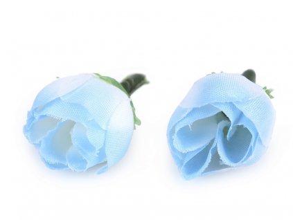 Umelá ružička Ø20mm modrá