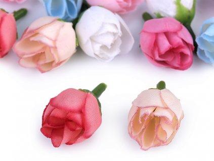Umelá ružička Ø20mm lososová
