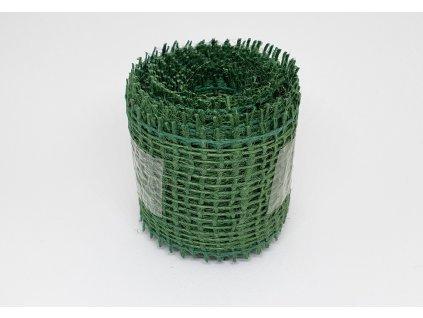 Jutová stuha 4cm/3m jedľovo zelená