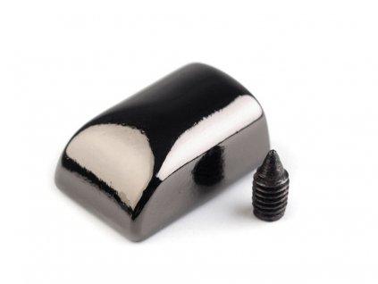 Koncovka na zips nikel čierny