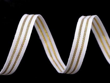 Rypsová stuha so zlatým lurexom 12mm