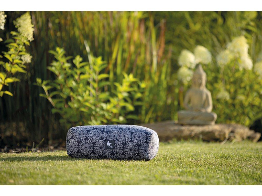 Meditační polštářek mandaly modré
