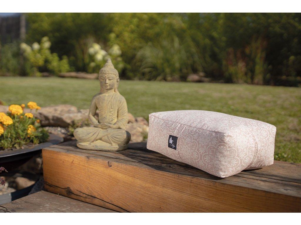 Meditační polštářek růžová