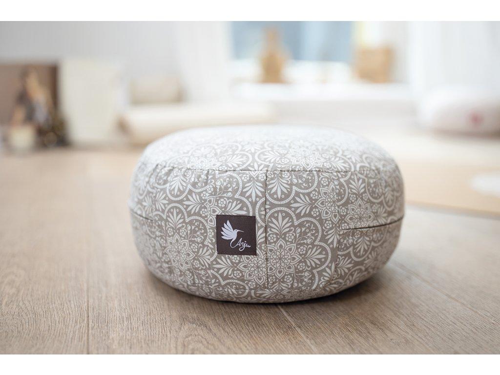 meditační polštářek kulatý