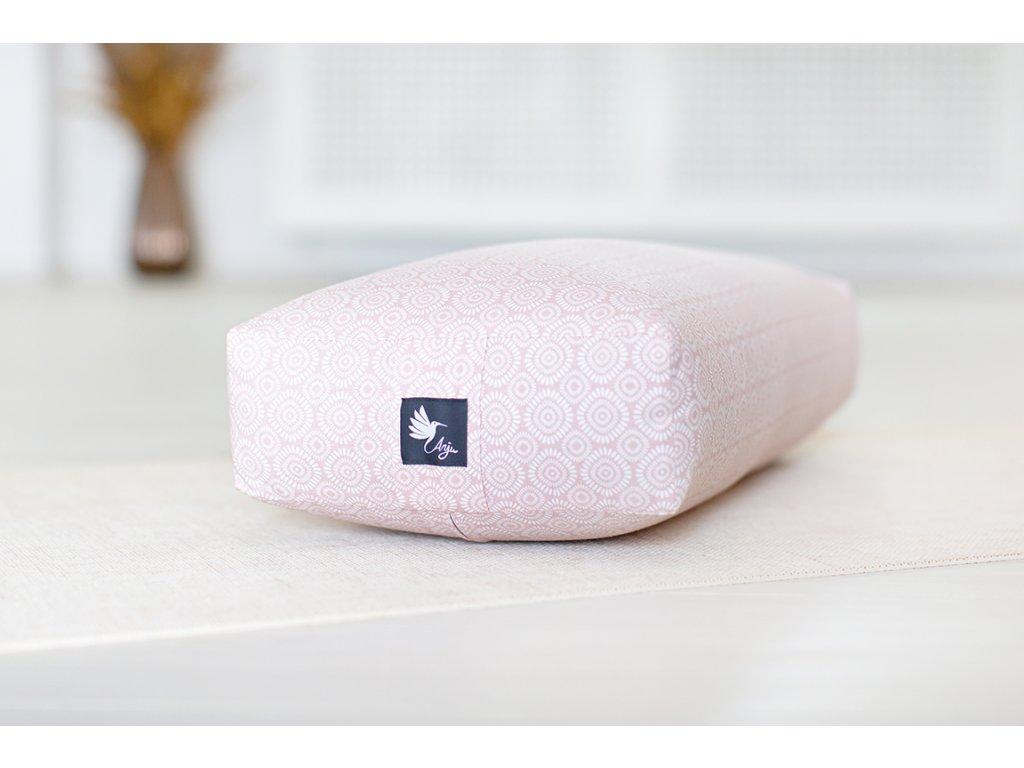 Bolster na jógu BIO bavlna růžový