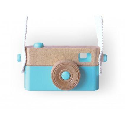 Dětský dřevěný fotoaparát PixFox modrý by Craffox