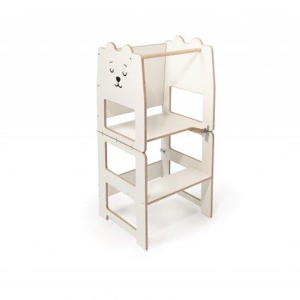 Multifunkční učící věž medvěd bílá 4