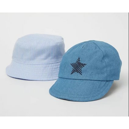 Letní klobouk a kšiltovka George, Blue star 2ks